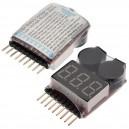 Сигнализатор разряда 1-8S Li-Po