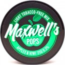 Смесь бестабачная для кальянов Maxwells 25гр light pops (яблоко и киви) 0,3%